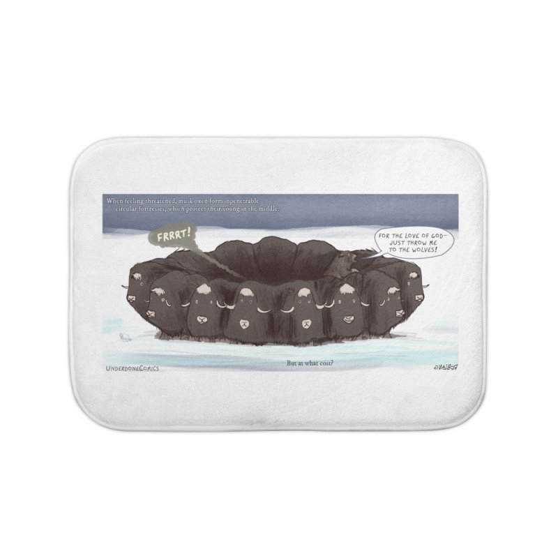 A Muskox Circle Home Bath Mat by The Underdone Comics Shop