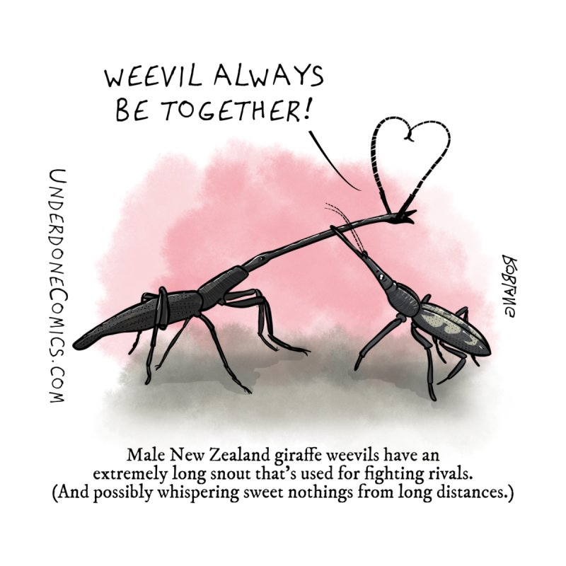 Giraffe Weevil Alvays Be Together Accessories Greeting Card by The Underdone Comics Shop