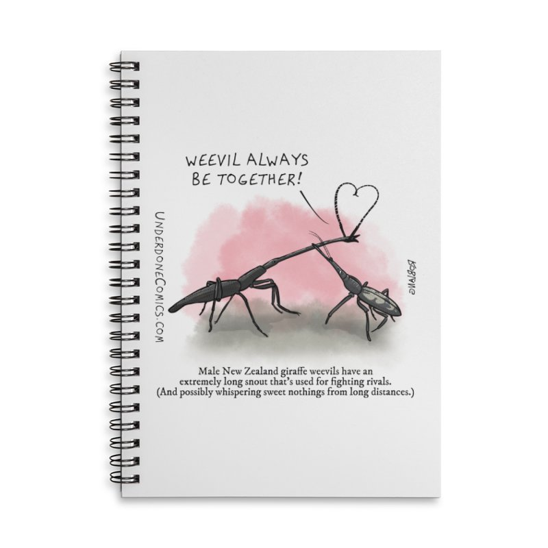 Giraffe Weevil Alvays Be Together Accessories Notebook by The Underdone Comics Shop