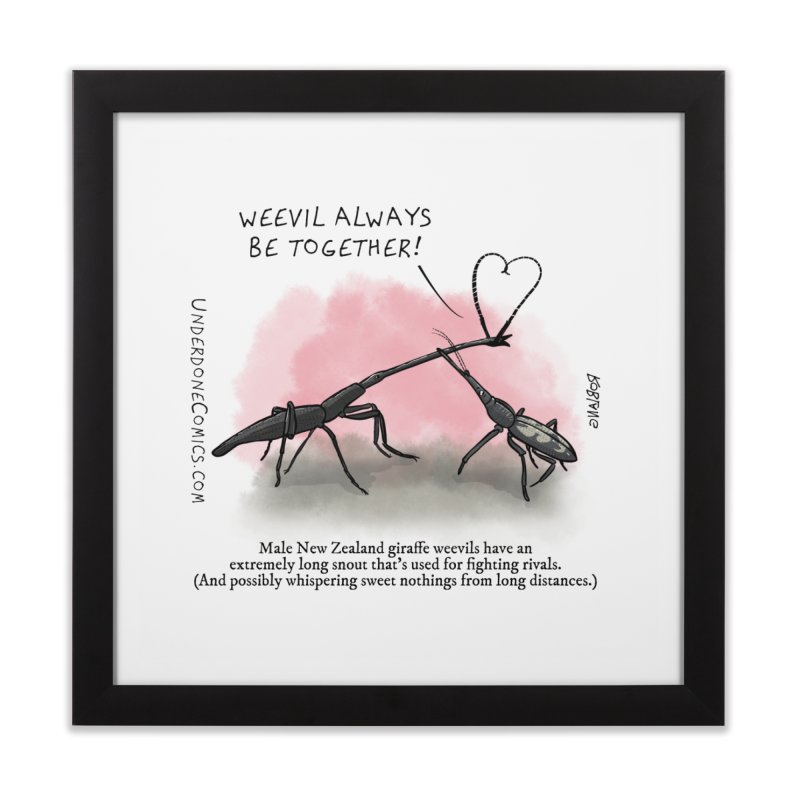 Giraffe Weevil Alvays Be Together Home Framed Fine Art Print by The Underdone Comics Shop