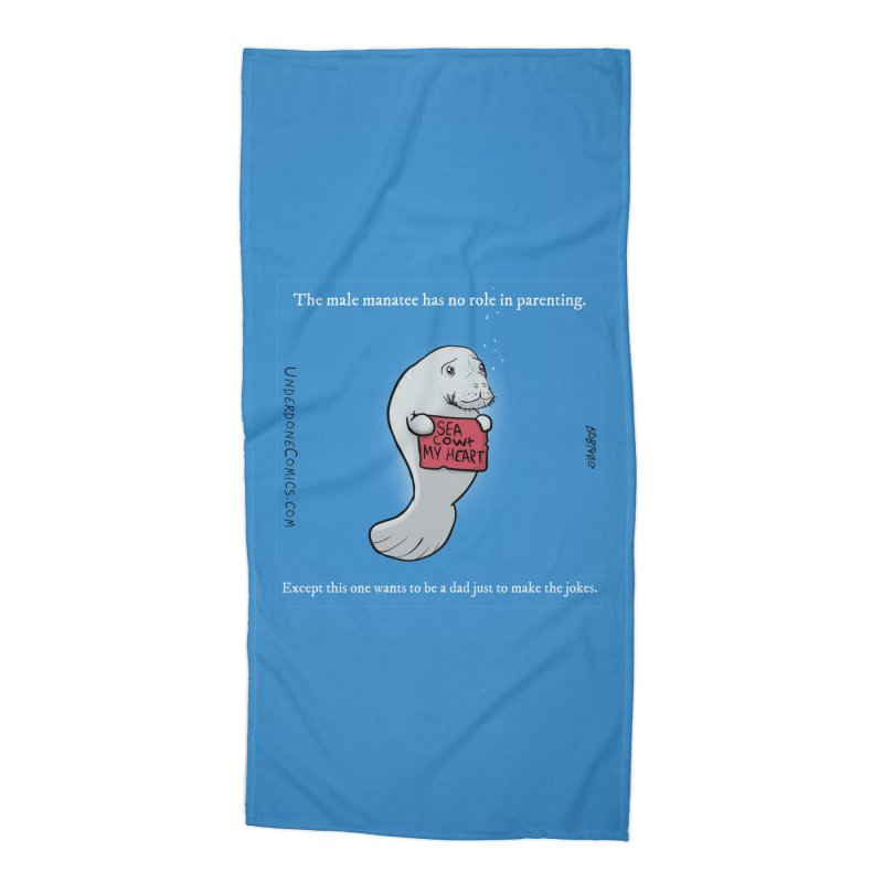 Sea COWt My Heart Accessories Beach Towel by The Underdone Comics Shop