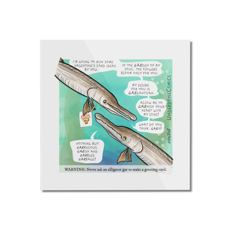 Valentines Day Gar Home Mounted Acrylic Print by The Underdone Comics Shop