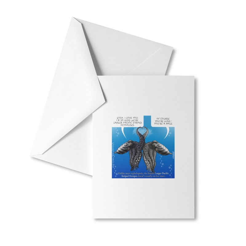 Lesser Pacific Striped Octopus Love Accessories Greeting Card by The Underdone Comics Shop