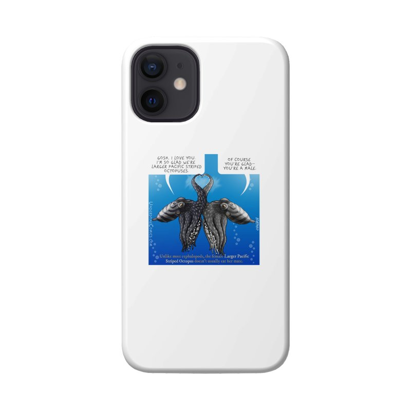 Lesser Pacific Striped Octopus Love Accessories Phone Case by The Underdone Comics Shop