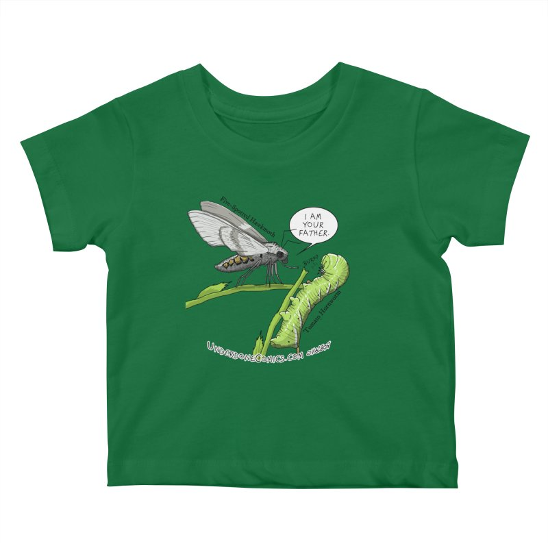 Tomato Hornworm & Hawkmoth: Father & Child Kids Baby T-Shirt by The Underdone Comics Shop