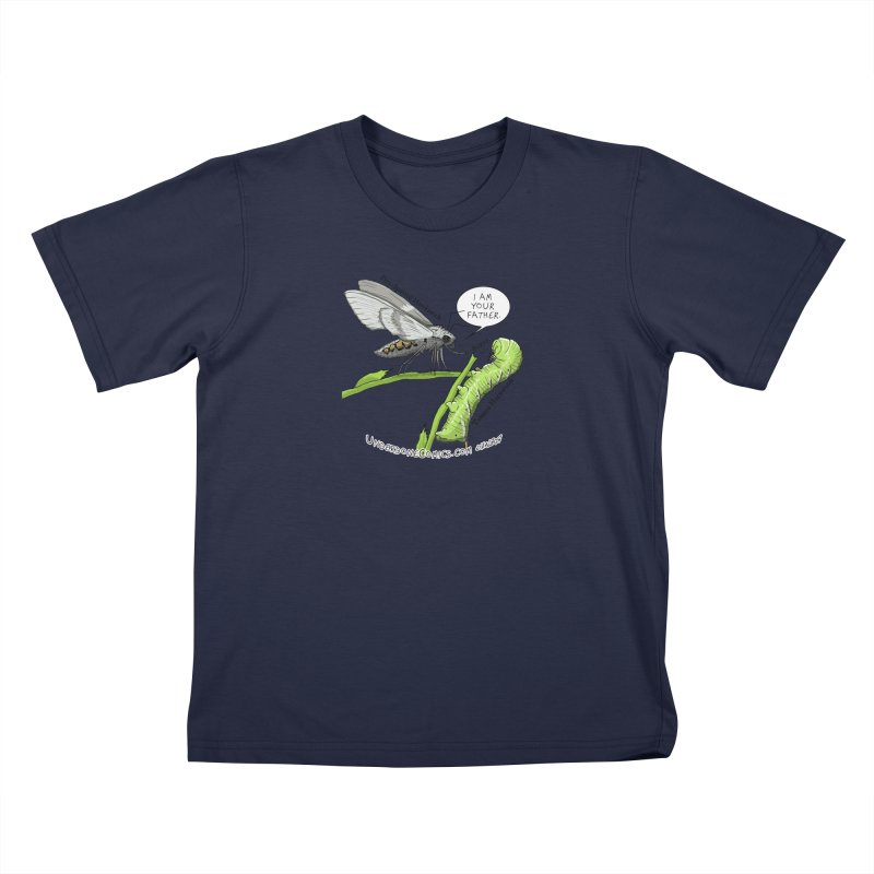 Tomato Hornworm & Hawkmoth: Father & Child Kids T-Shirt by The Underdone Comics Shop