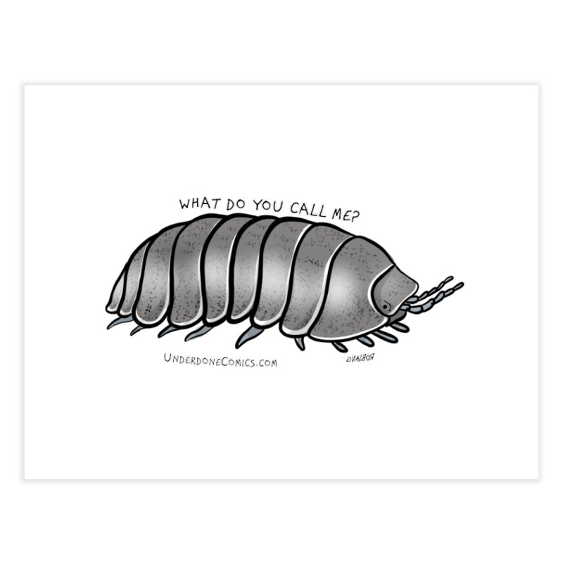 What do YOU call an ISOPOD? Home Fine Art Print by The Underdone Comics Shop