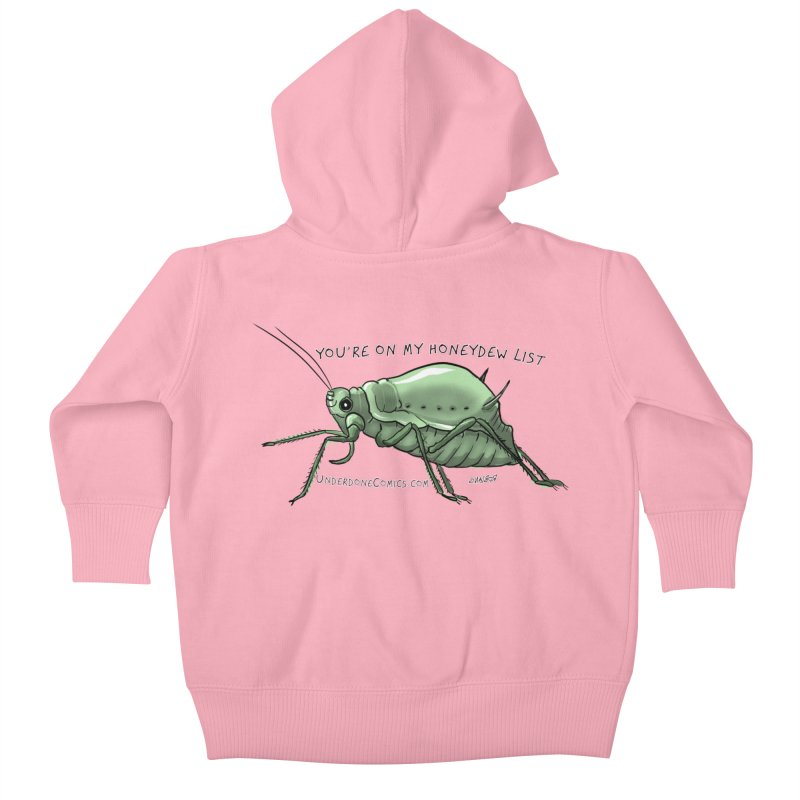 Aphid has you on its Honeydew List Kids Baby Zip-Up Hoody by The Underdone Comics Shop