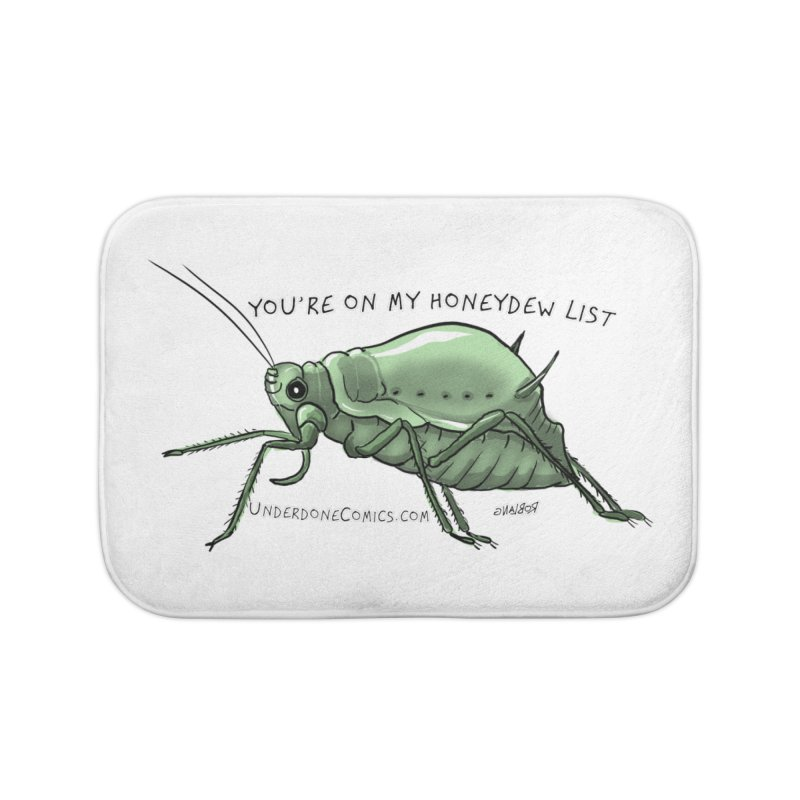 Aphid has you on its Honeydew List Home Bath Mat by The Underdone Comics Shop