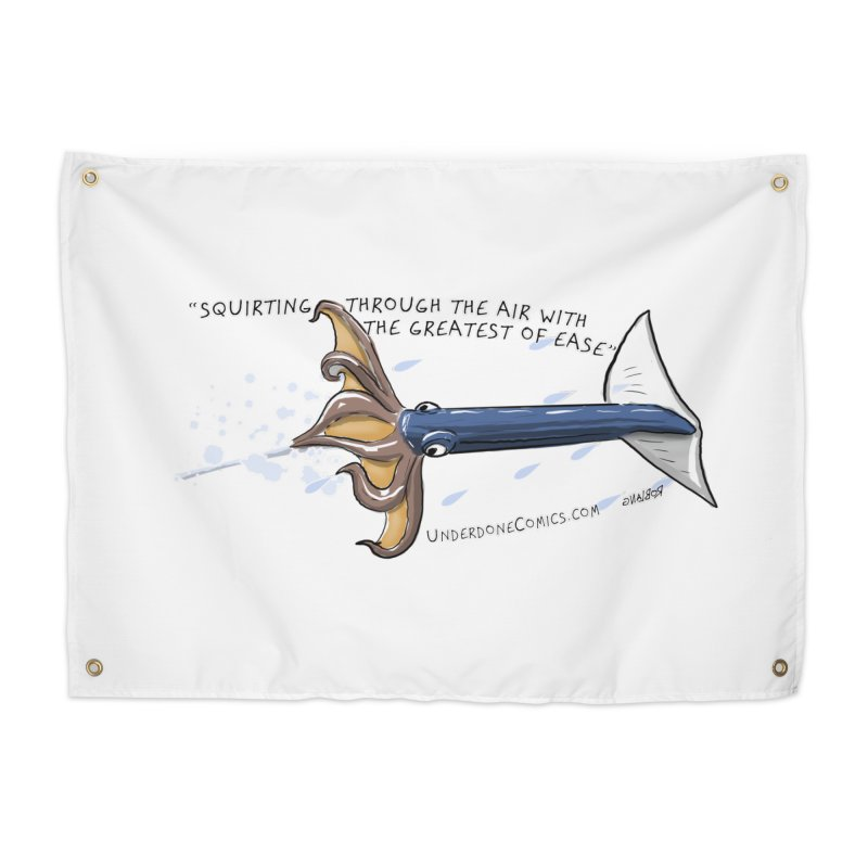 Neon Flying Squid Home Tapestry by The Underdone Comics Shop