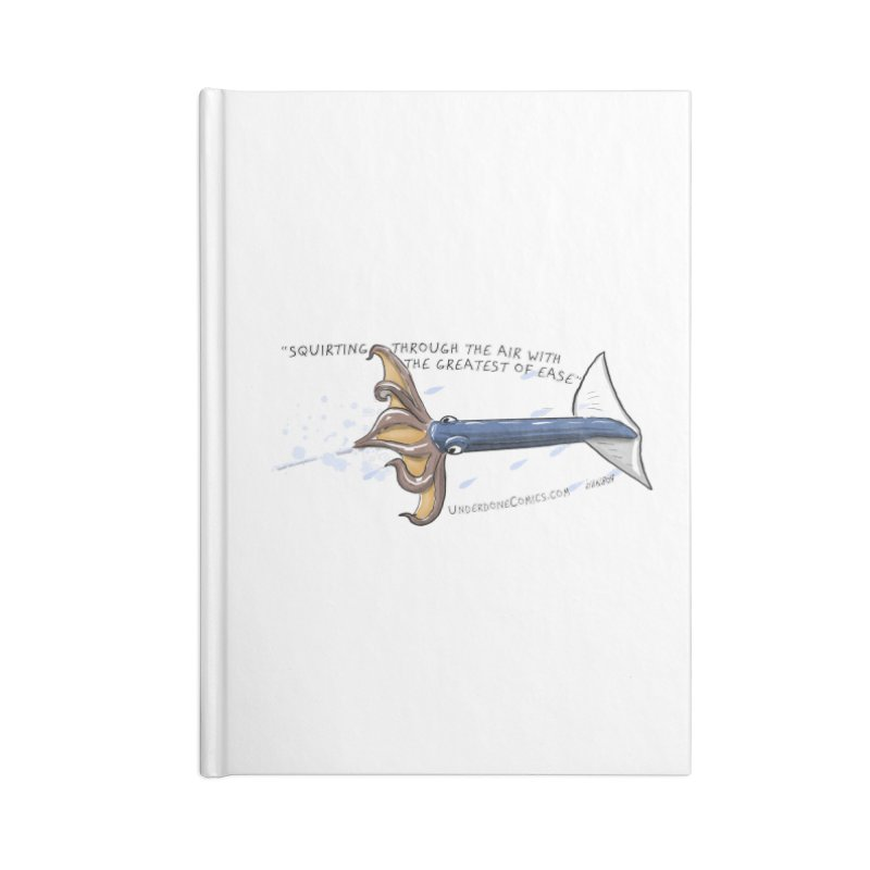 Neon Flying Squid Accessories Notebook by The Underdone Comics Shop