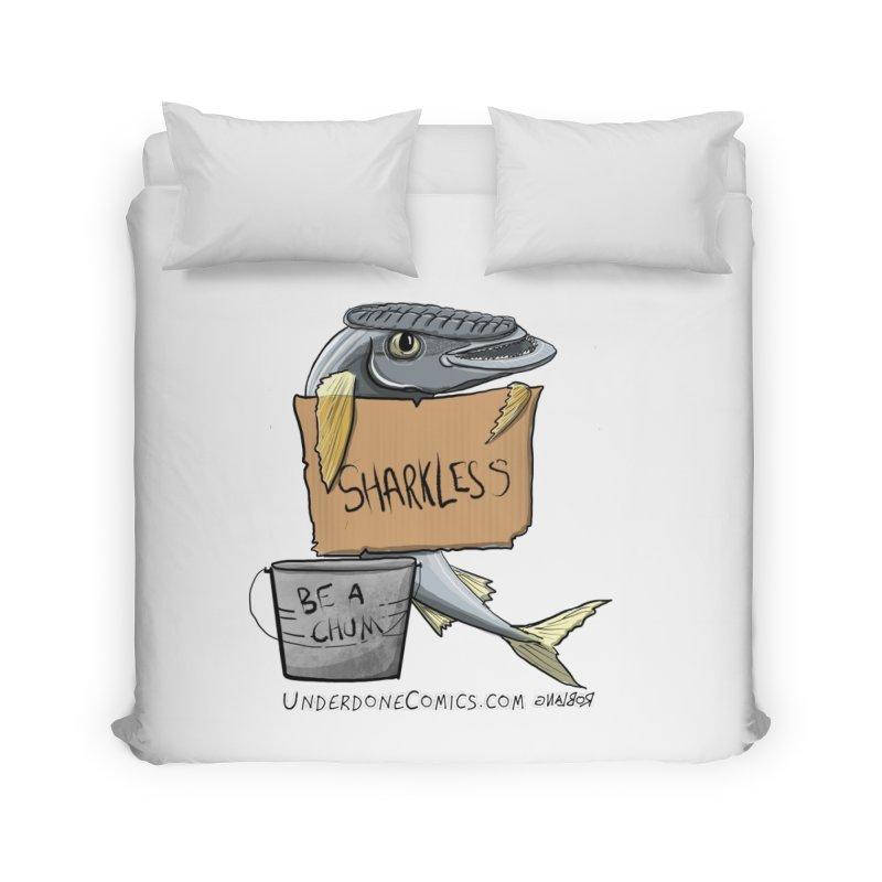 Sharkless Remora Home Duvet by The Underdone Comics Shop