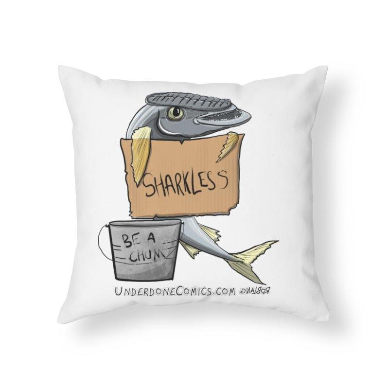 Sharkless Remora Home Throw Pillow by The Underdone Comics Shop