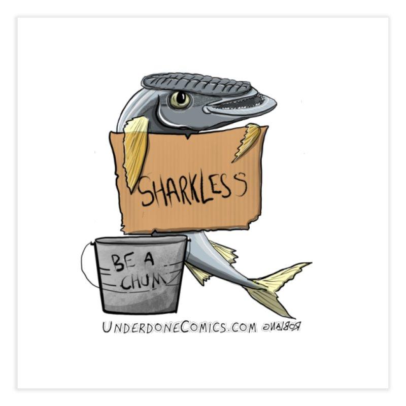 Sharkless Remora Home Fine Art Print by The Underdone Comics Shop