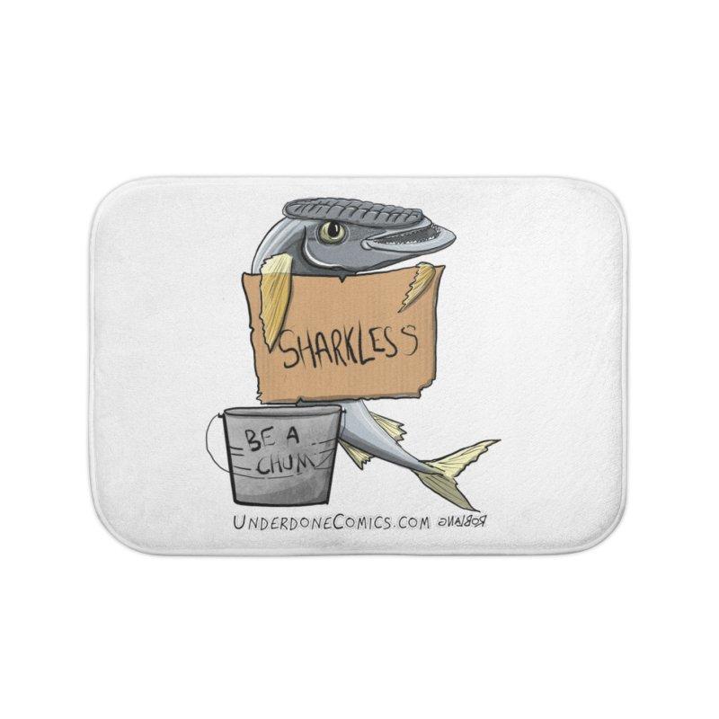 Sharkless Remora Home Bath Mat by The Underdone Comics Shop