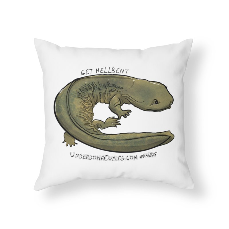 Get Hellbent with the Hellbender Home Throw Pillow by The Underdone Comics Shop