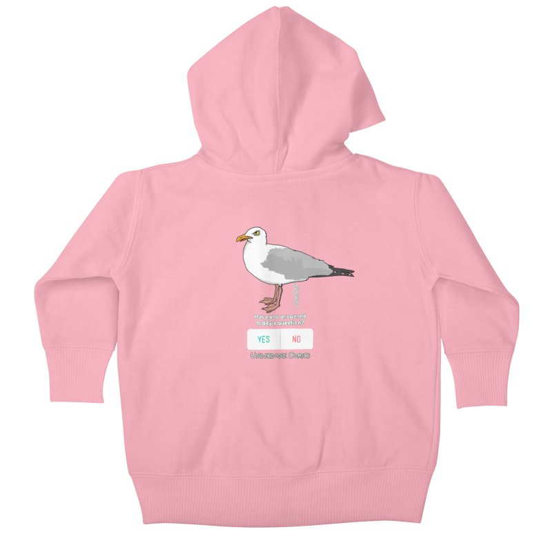 Have you Answered Today's Question? Asks the Gull Kids Baby Zip-Up Hoody by The Underdone Comics Shop