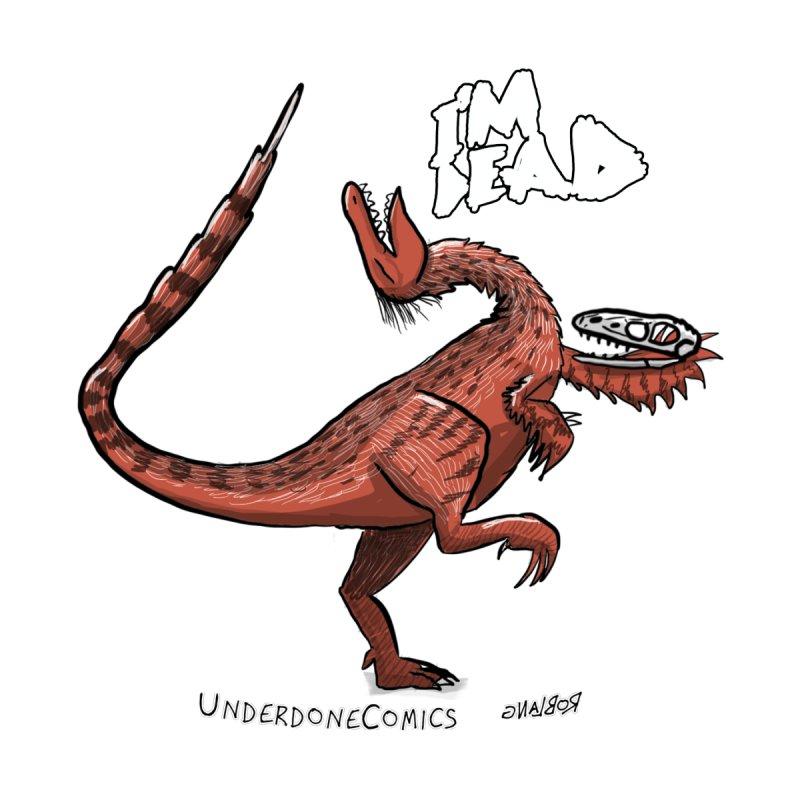 I'm Dead Troodon Women's V-Neck by The Underdone Comics Shop