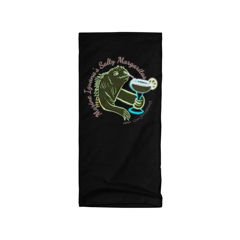 Marine Iguana's Salty Margaritas Accessories Neck Gaiter by The Underdone Comics Shop