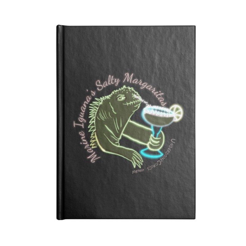 Marine Iguana's Salty Margaritas Accessories Notebook by The Underdone Comics Shop