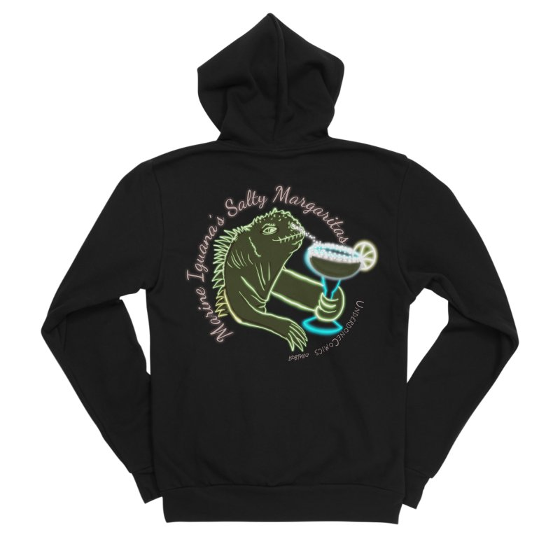 Marine Iguana's Salty Margaritas Women's Zip-Up Hoody by The Underdone Comics Shop