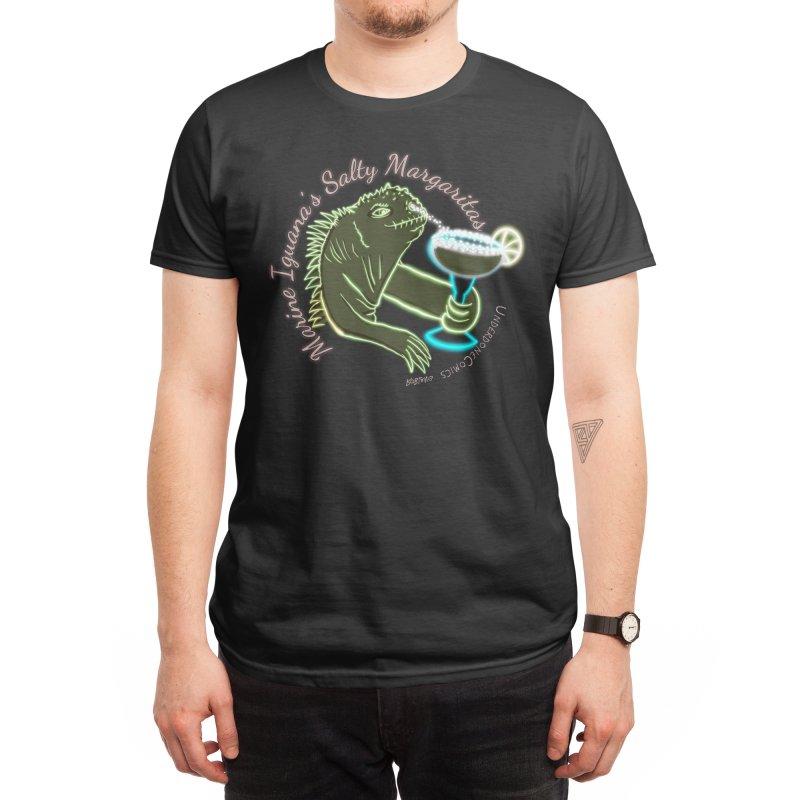 Marine Iguana's Salty Margaritas Men's T-Shirt by The Underdone Comics Shop