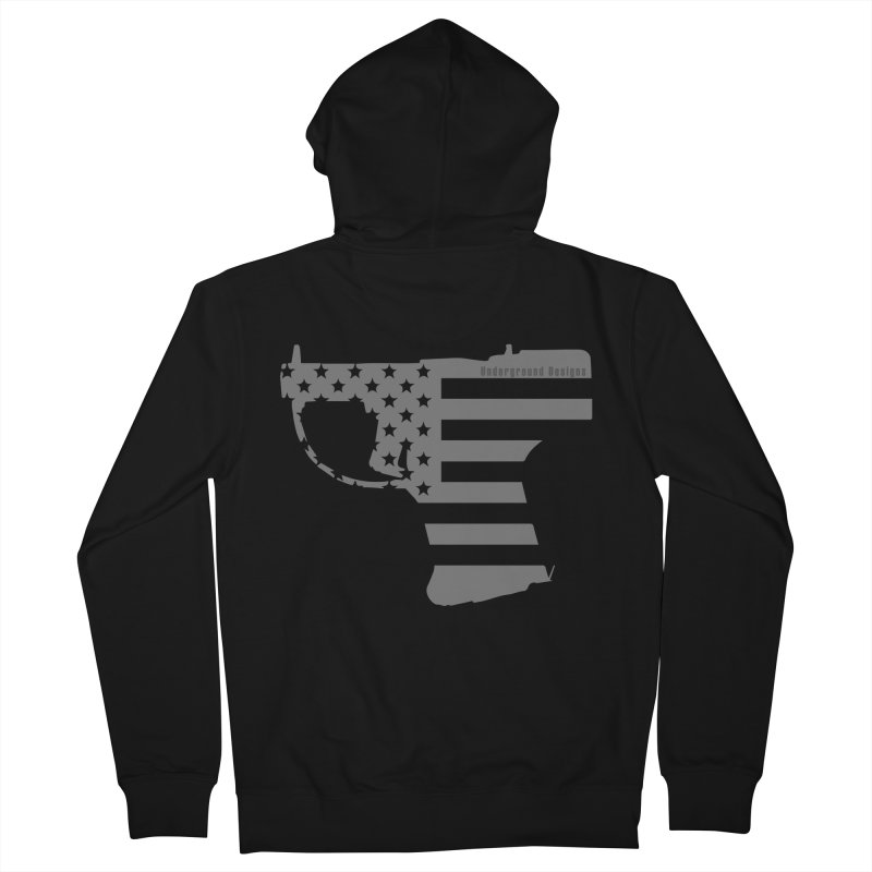 Liberator Men's Zip-Up Hoody by undergrounddesigns's Artist Shop