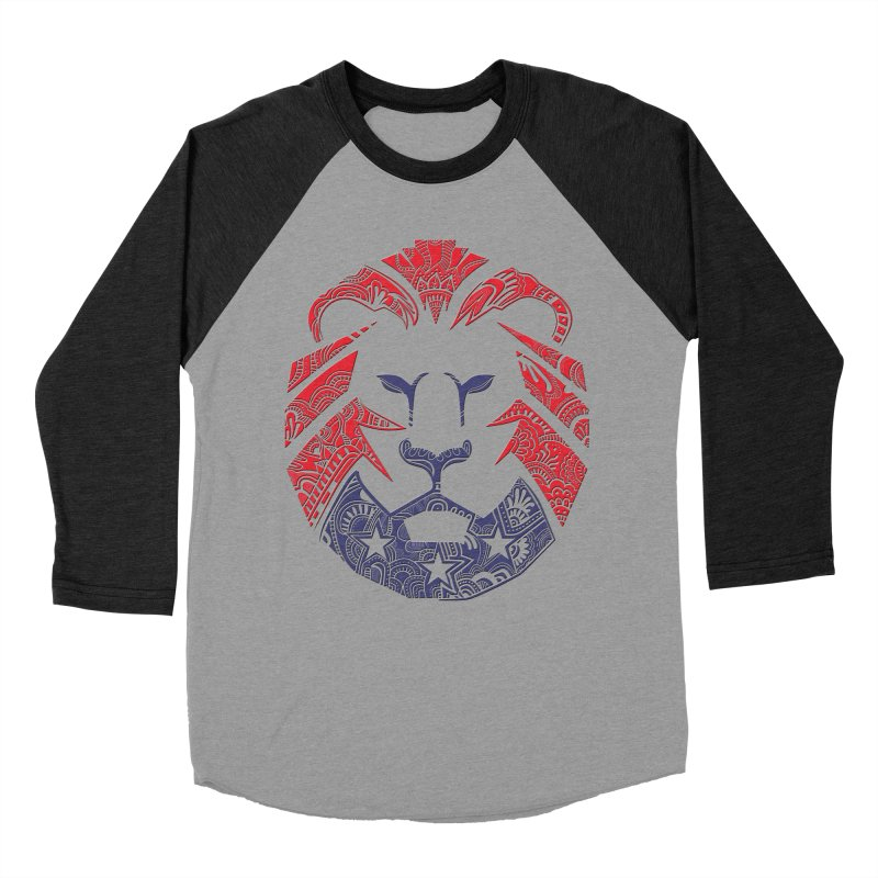 Lion Men's Baseball Triblend T-Shirt by undergrounddesigns's Artist Shop