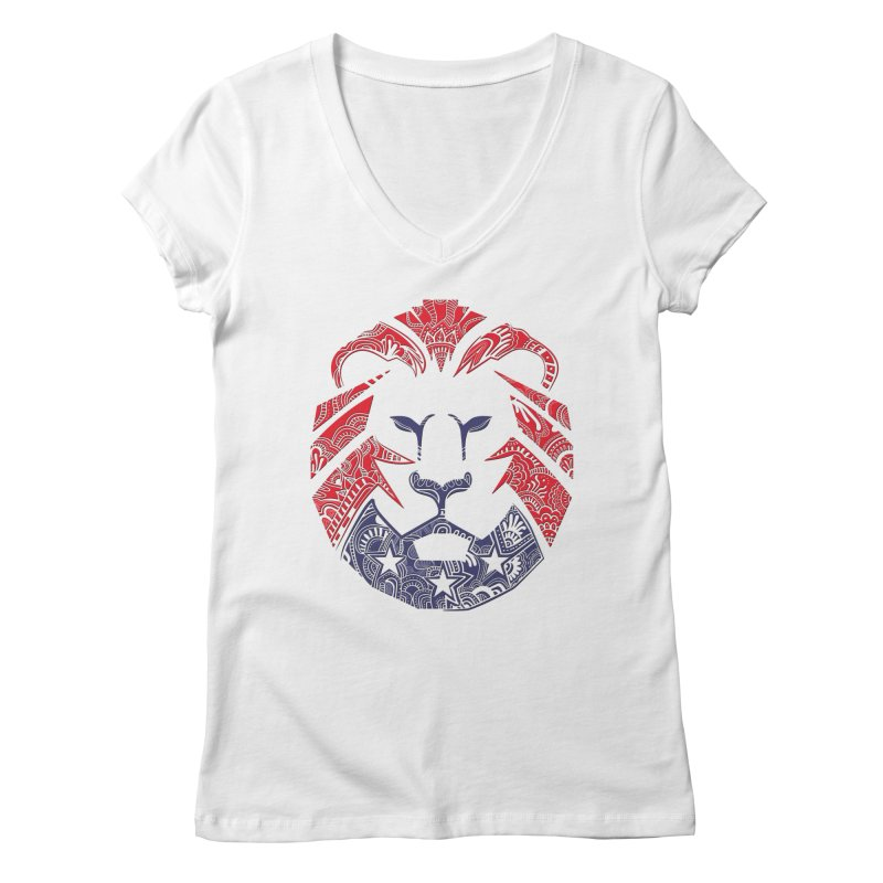 Lion Women's Regular V-Neck by undergrounddesigns's Artist Shop