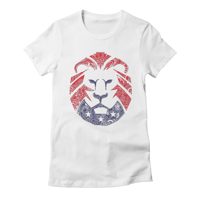 Lion Women's Fitted T-Shirt by undergrounddesigns's Artist Shop