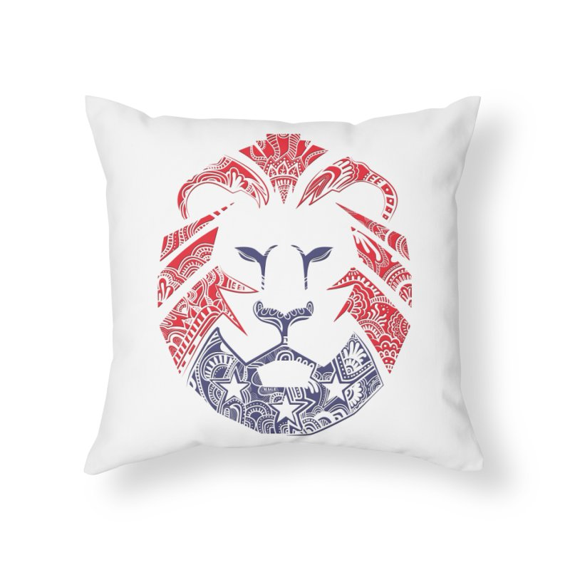 Lion Home Throw Pillow by undergrounddesigns's Artist Shop