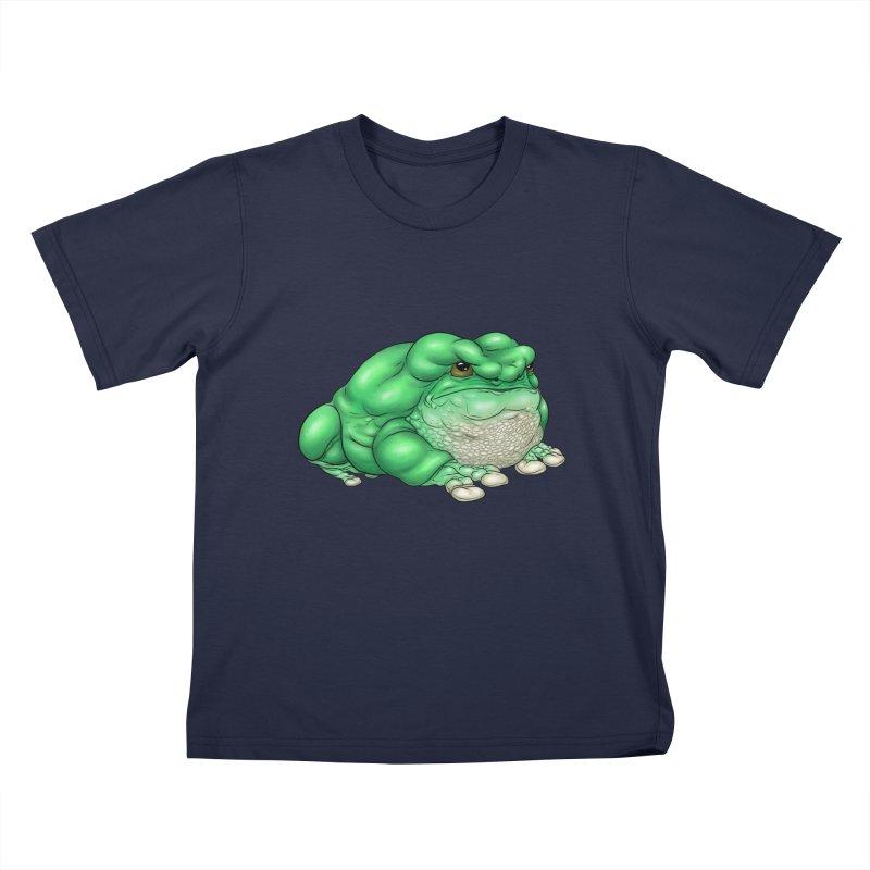Green Tree Frog Kids T-Shirt by UnearthlyMike's Artist Shop