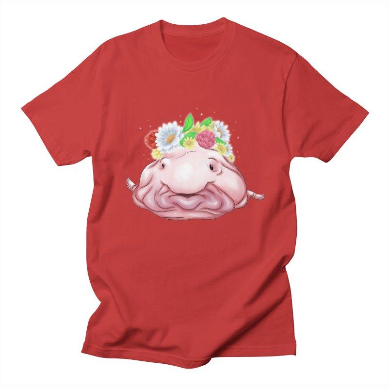 Flower Crown Blobfish Men's T-Shirt by UnearthlyMike's Artist Shop