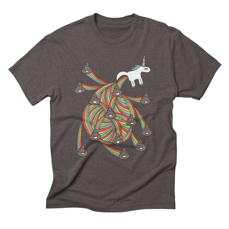Pooping Unicorn Men's Triblend T-Shirt by unexpected's Artist Shop