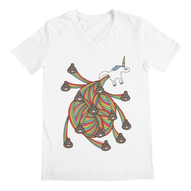 Pooping Unicorn Men's V-Neck by unexpected's Artist Shop