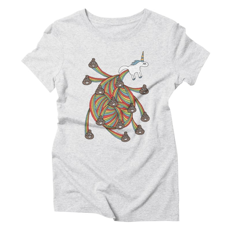 Pooping Unicorn Women's Triblend T-shirt by unexpected's Artist Shop