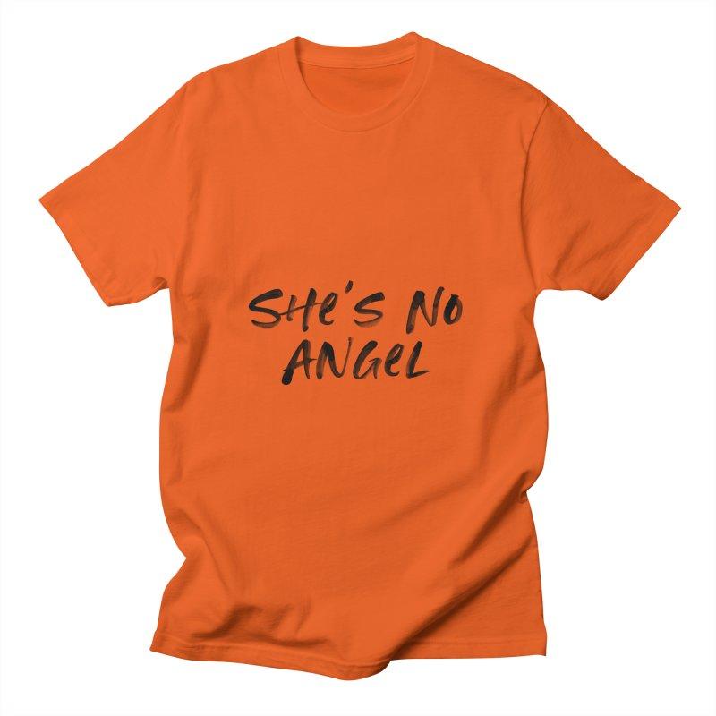 She's No Angel Men's T-Shirt by Unhuman Design