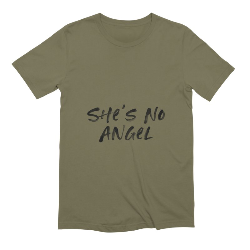 She's No Angel Men's Extra Soft T-Shirt by Unhuman Design