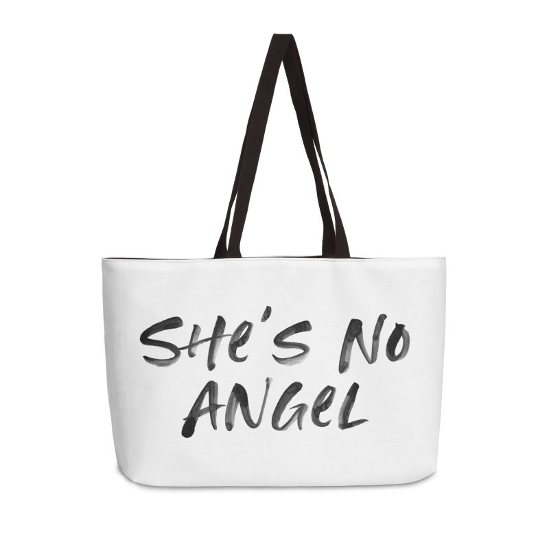 She's No Angel Accessories Weekender Bag Bag by Unhuman Design