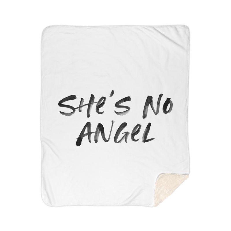 She's No Angel Home Sherpa Blanket Blanket by Unhuman Design