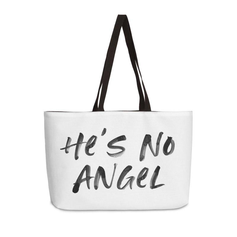 He's No Angel Accessories Weekender Bag Bag by Unhuman Design