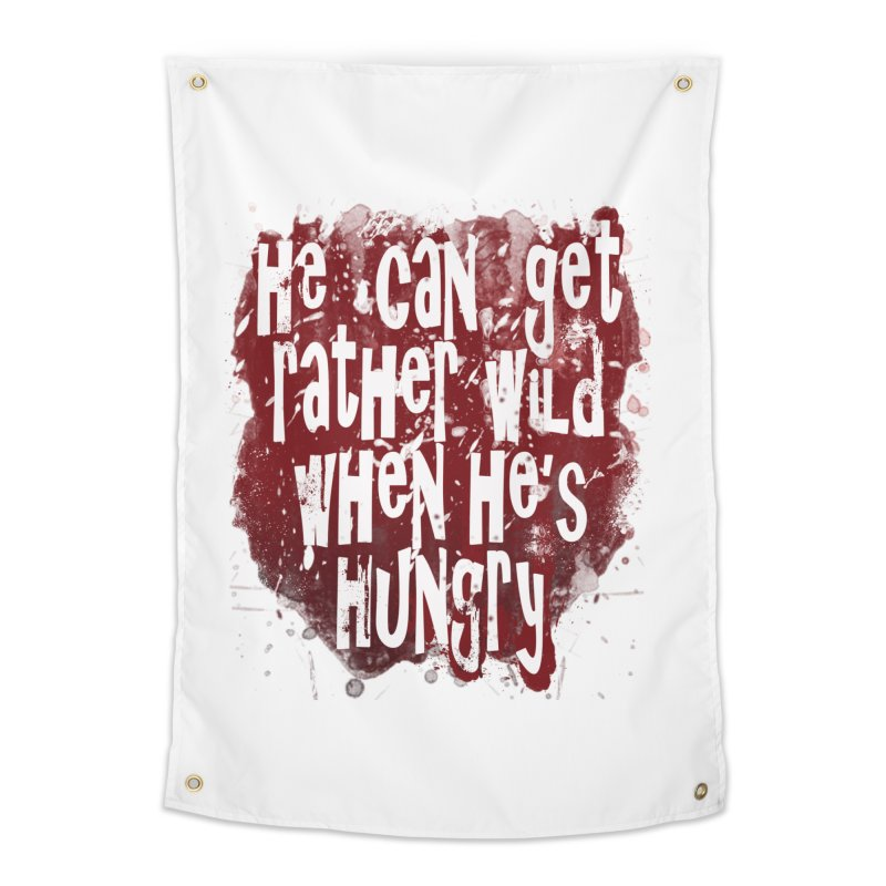 He can get rather wild when he's hungry Home Tapestry by Unhuman Design