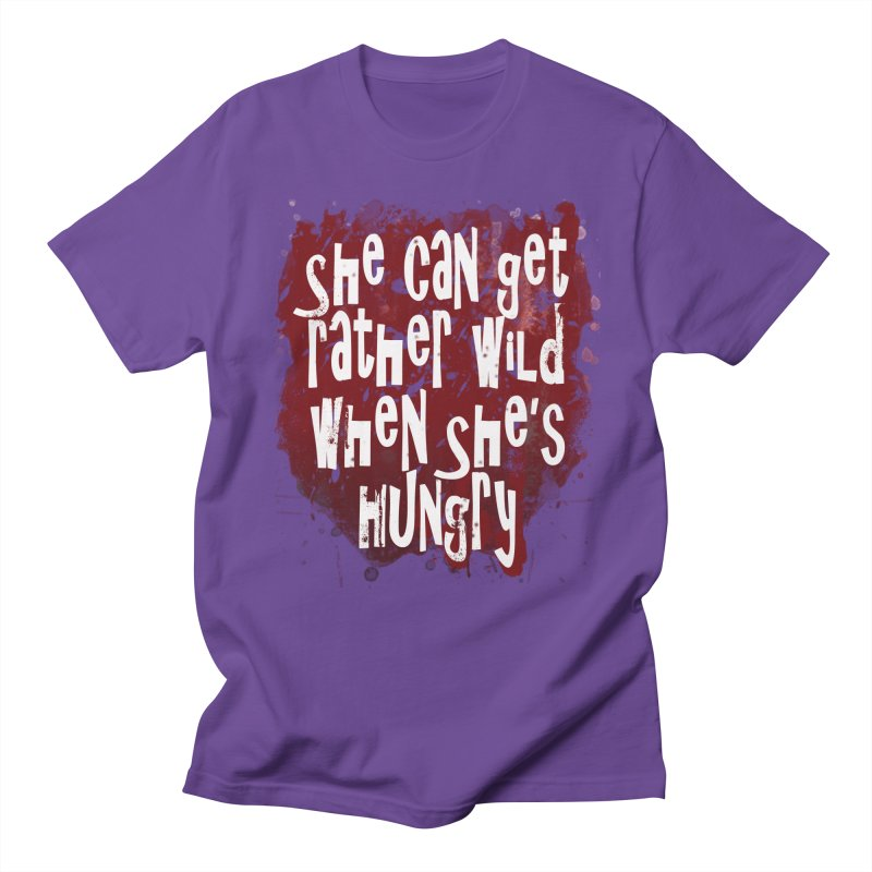 She can get rather wild when she's hungry Men's Regular T-Shirt by Unhuman Design