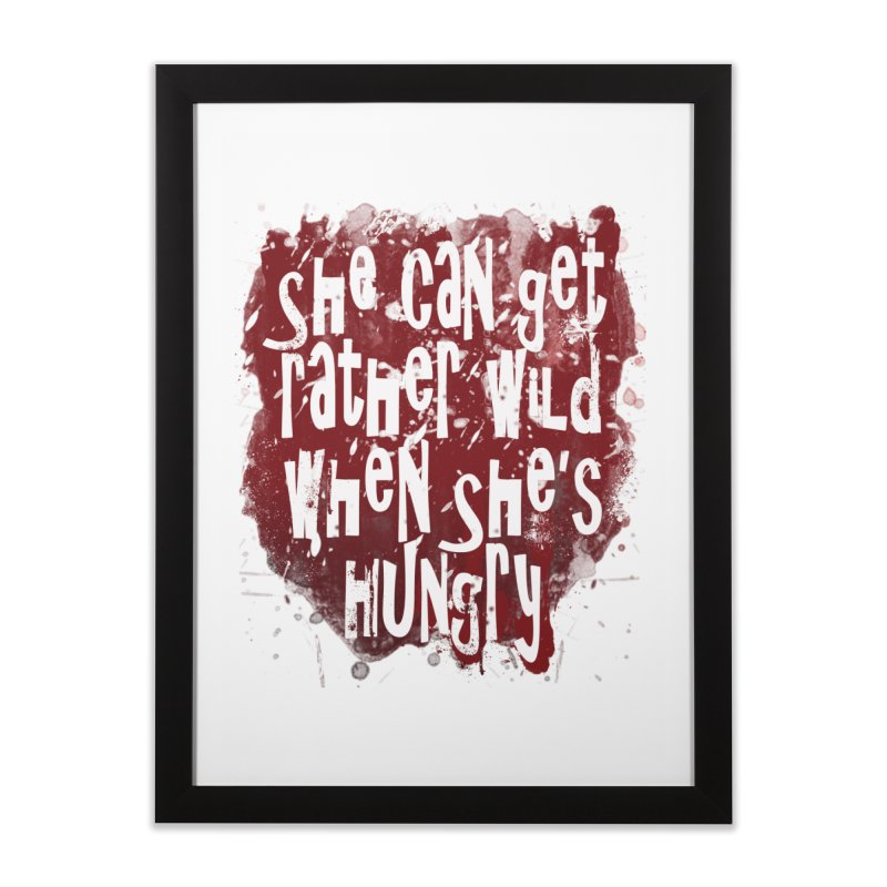 She can get rather wild when she's hungry Home Framed Fine Art Print by Unhuman Design