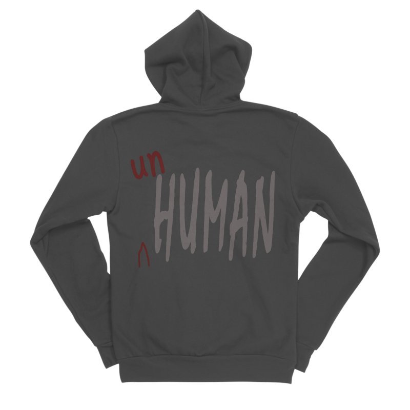 Unhuman Men's Sponge Fleece Zip-Up Hoody by Unhuman Design