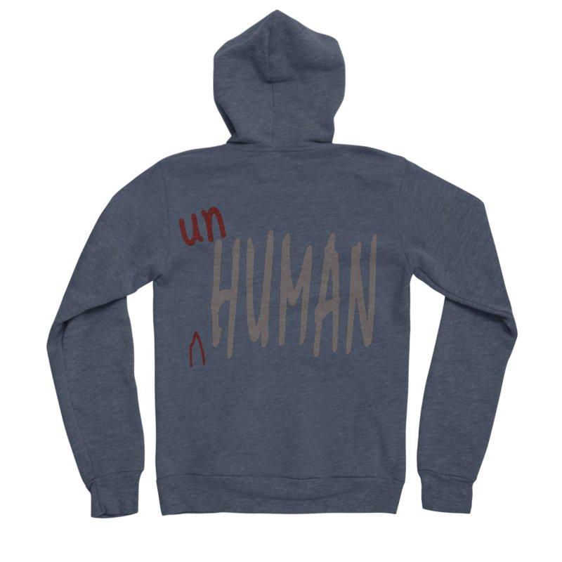 Unhuman Women's Sponge Fleece Zip-Up Hoody by Unhuman Design