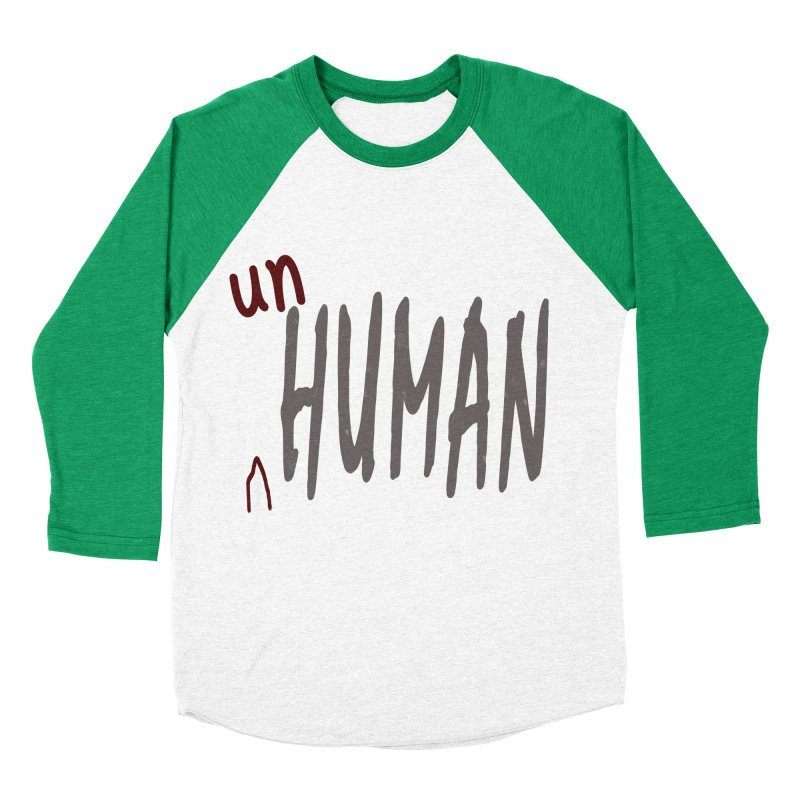 Unhuman Women's Baseball Triblend Longsleeve T-Shirt by Unhuman Design