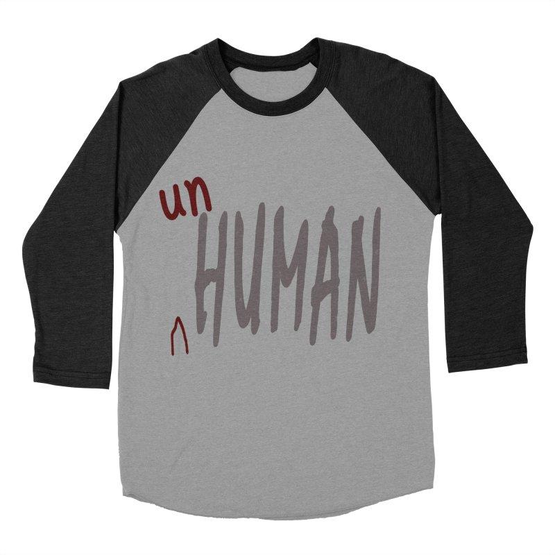 Unhuman Women's Baseball Triblend Longsleeve T-Shirt by Unhuman Design