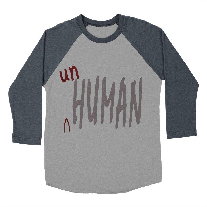 Unhuman Men's Baseball Triblend Longsleeve T-Shirt by Unhuman Design