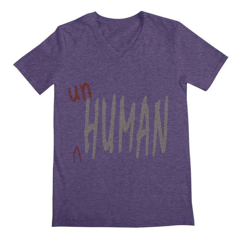 Unhuman Men's Regular V-Neck by Unhuman Design